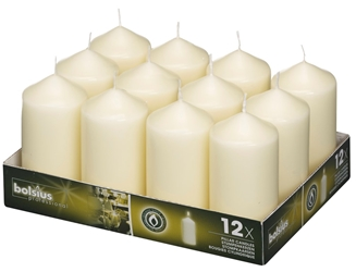 Bolsius® Professional Pillar Candle 120mm x 60mm Ivory (12 Pack) Bolsius, Professional, Pillar, 120mm, 60mm, Ivory, bolsius