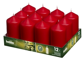Bolsius® Professional Pillar Candle 120mm x 60mm Red(12 Pack) Bolsius, Professional, Pillar, 120mm, 60mm, Redbolsius