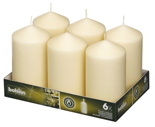 Bolsius® Professional Pillar Candle 150mm x 80mm Ivory (6 Pack) Bolsius, Professional, Pillar, 150mm, 80mm, Ivory, bolsius