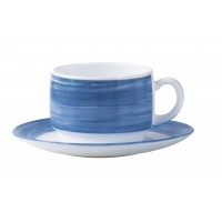 "Brush Blue Jeans Saucer 5.5"" 14cm (48 Pack) Brush, Blue, Jeans, Saucer, 5.5"", 14cm"