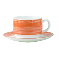 "Brush Orange Saucer 5.5"" 14cm (48 Pack) Brush, Orange, Saucer, 5.5"", 14cm"