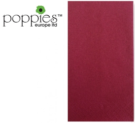 Burgundy Pre-Folded 3 Ply 40cm Napkins (1000 Pack)