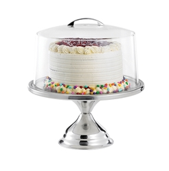 "Cake Stand, Stainless Steel, Unassembled, 12.75"" dia x 3.8"" H"
