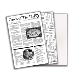 "Catch of the Day Greaseproof Paper 10 x 17"" / 26 x 43cm (500 Pack)"