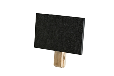 Chalkboard with Clothespin Clip (6 per Pack), 3 x 2.875""