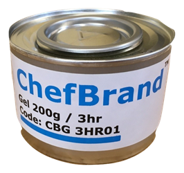 ChefBrand Chafing Fuel -  3 Hour Gel Chafing Fuel (x24)