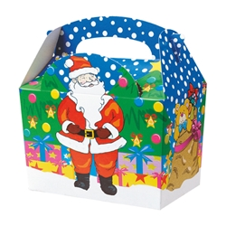 Christmas paperboard box with handle