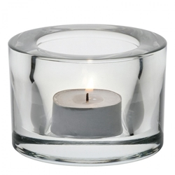 Chunky Tealight Holder - Clear (12 Pack)