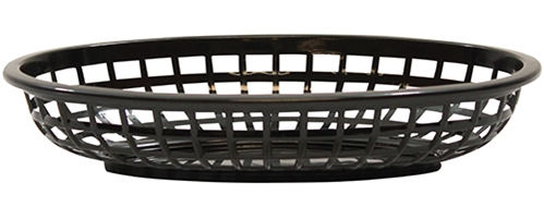 Classic Oval Baskets High Density Polyethylene Black 24x15x5cm (36 Pack)