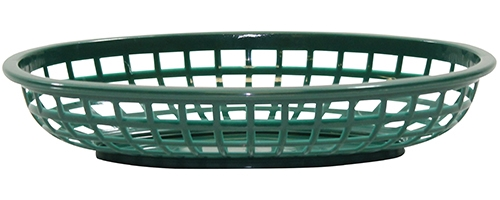 Classic Oval Baskets Hight Density Polyethylene Forest Green 24x15x5cm (36 Pack)