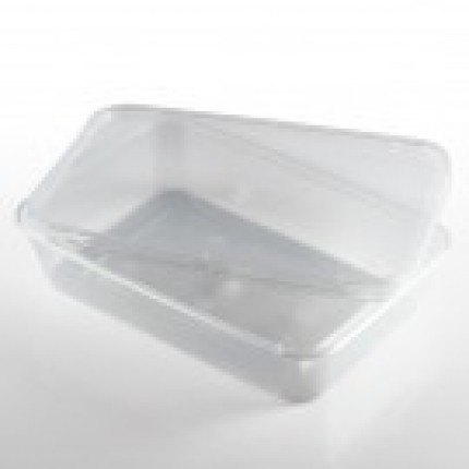 Clear Standard Plastic Microwave Container 500ml