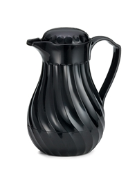 Connoisserve Swirl Decanter, Black, 64 oz