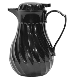 Connoisserve Swirl Decanter with Thumb Press, Black, 64 oz