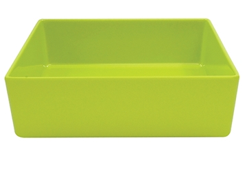 Contemporary Melamine Staight Sided Bowl Lime Green (25.5x25.5x7.5cm) 4 Litre
