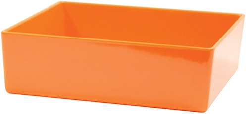 Contemporary Melamine Staight Sided Bowl Orange (25.5x25.5x7.5cm) 4 Litre
