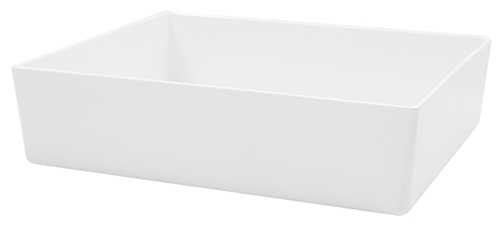 Contemporary Melamine Staight Sided Bowl White (51x15x7.5) 4.5 Litre