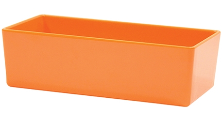 Contemporary Melamine Staight Sided Bowl Orange (25.5x12.5x7.5cm) 1.5 Litre