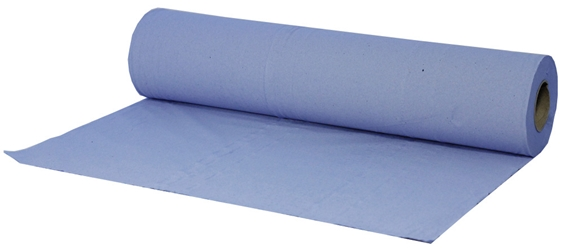 Couch Roll 2 Ply Blue Recycled 50cm x 40m 100 sheets per roll