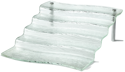 Cristal Collection(TM) Five Step Waterfall Riser, Acrylic, 16.5 x 21 x 6.25""