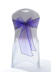 "Crystal Chair Sashes - Dark Purple 8""x108"" (5 Pack)"