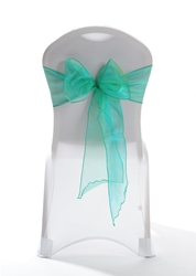 "Crystal Chair Sashes - Emerald Yellow 8""x108"" (5 Pack)"