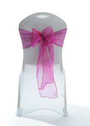 "Crystal Chair Sashes - Fuchsia 8""x108"" (5 Pack)"