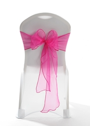 "Crystal Chair Sashes - Hot Pink 8""x108"" (5 Pack)"