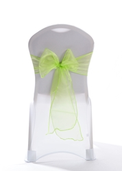 "Crystal Chair Sashes - Lime 8""x108"" (5 Pack)"