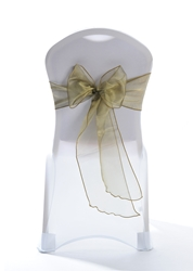 "Crystal Chair Sashes - Olive 8""x108"" (5 Pack)"