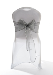 "Crystal Chair Sashes - Platinum 8""x108"" (5 Pack)"