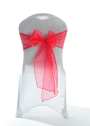 "Crystal Chair Sashes - Red Sash 8""x108"" (5 Pack)"