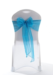 "Crystal Chair Sashes - Teal 8""x108"" (5 Pack)"