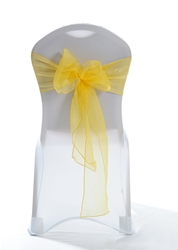 "Crystal Chair Sashes - Yellow 8""x108"" (5 Pack)"