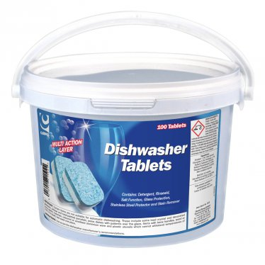 DISHWASHER TABLETS  Pack of 100 Dishwasher, Tablets, Cleenol