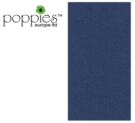Dark Blue Pre-Folded 3 Ply 40cm Napkins (1000 Pack)