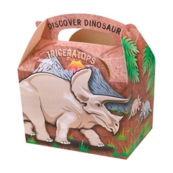 Discover Dinosaurs paperboard box with handle