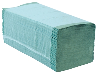 Easipull Interfold 1 Ply Recycled Paper Hand Towel - Green