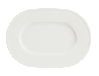 Embossed Oval Plate 34cm (Pack of 6)