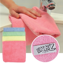 Exel Supercloth  Contract Microfibre Cloth (pack of 10)