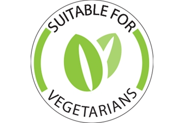 Suitable for Vegetarians food lables - (1000 Pack)