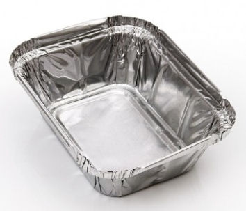 Foil Container 250ml (8.7oz) 122x100x33mm (4.8x3.9x1.2) (1000 Pack)