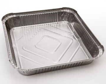 "Foil Container 81500ml (52oz) 230x230x38mm (9.0""x9.0""x1.5"") (200 Pack)"