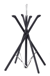 "Fold-A-Way(TM) Tray Stand, Black Wood Finish, 35"" H"