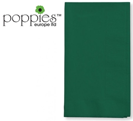 Forest Green Pre-Folded 3 Ply 40cm Napkins (1000 Pack)