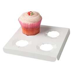 Four Cup Cake Box & Insert