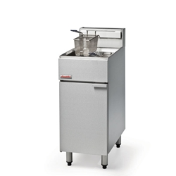 FastFri Free Standing 18 Litre Single Tank Fryer with Twin Basket (Each) FastFri, Free, Standing, 18 Litre, Single, Tank, Fryer, with, Twin, Basket, Blue, Seal