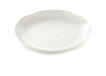 Frostone Collection Melamine Round Peppled Pattern Tray (35.5cm Diameter)