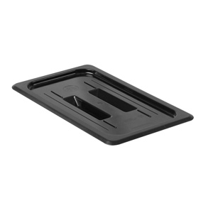 GN 1/3, Standard Solid Cover, Black, for Polycarbonate Gastronorm Container