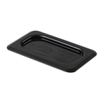 GN 1/9, Standard Solid Cover, Black, for Polycarbonate Gastronorm Container
