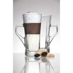 Genware Geo Tall Coffee Glass 33.5cl / 12oz (6 Pack) Genware, Geo, Tall, Coffee, Glass, 33.5cl, 12oz, Nevilles